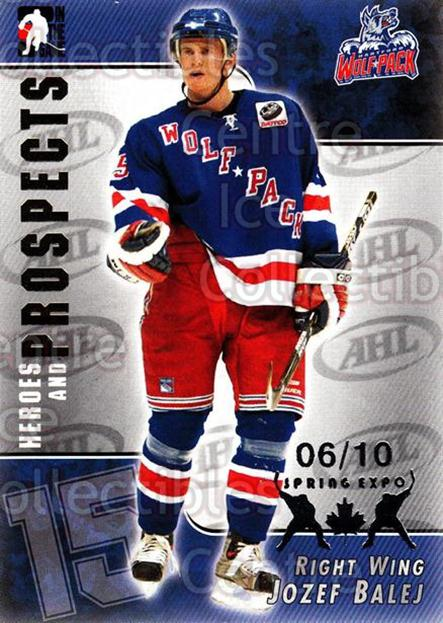 2004-05 ITG Heroes and Prospects Spring Expo #47 Jozef Balej<br/>2 In Stock - $5.00 each - <a href=https://centericecollectibles.foxycart.com/cart?name=2004-05%20ITG%20Heroes%20and%20Prospects%20Spring%20Expo%20%2347%20Jozef%20Balej...&price=$5.00&code=472929 class=foxycart> Buy it now! </a>