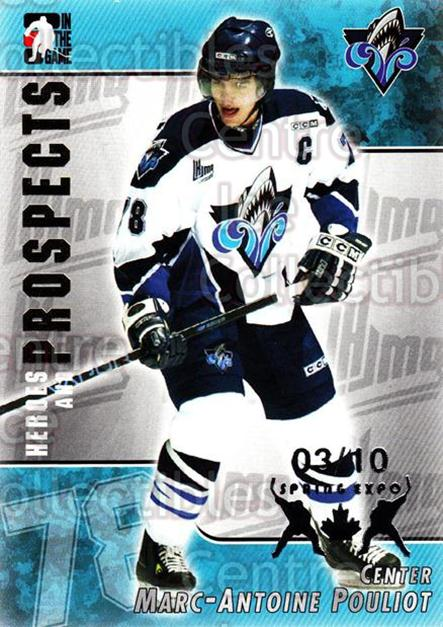 2004-05 ITG Heroes and Prospects Spring Expo #90 Marc-Antoine Pouliot<br/>1 In Stock - $5.00 each - <a href=https://centericecollectibles.foxycart.com/cart?name=2004-05%20ITG%20Heroes%20and%20Prospects%20Spring%20Expo%20%2390%20Marc-Antoine%20Po...&quantity_max=1&price=$5.00&code=472970 class=foxycart> Buy it now! </a>