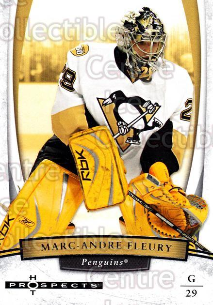 2007-08 Hot Prospects #50 Marc-Andre Fleury<br/>4 In Stock - $2.00 each - <a href=https://centericecollectibles.foxycart.com/cart?name=2007-08%20Hot%20Prospects%20%2350%20Marc-Andre%20Fleu...&quantity_max=4&price=$2.00&code=472976 class=foxycart> Buy it now! </a>