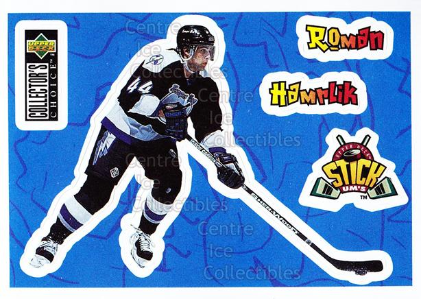 1996-97 Collectors Choice Stick Ums #18 Roman Hamrlik<br/>10 In Stock - $1.00 each - <a href=https://centericecollectibles.foxycart.com/cart?name=1996-97%20Collectors%20Choice%20Stick%20Ums%20%2318%20Roman%20Hamrlik...&quantity_max=10&price=$1.00&code=47297 class=foxycart> Buy it now! </a>