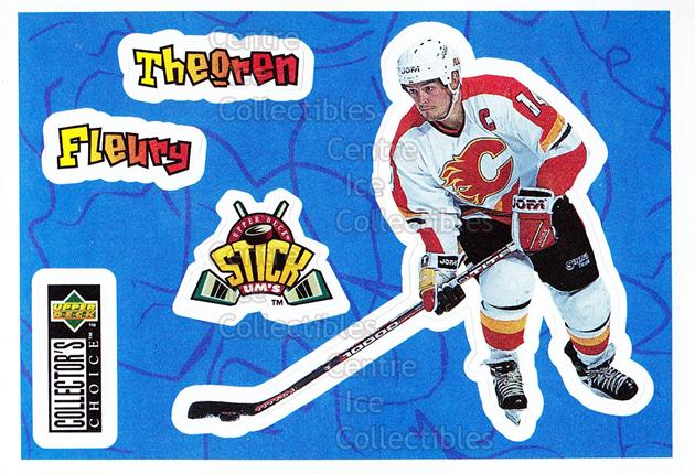 1996-97 Collectors Choice Stick Ums #20 Theo Fleury<br/>13 In Stock - $1.00 each - <a href=https://centericecollectibles.foxycart.com/cart?name=1996-97%20Collectors%20Choice%20Stick%20Ums%20%2320%20Theo%20Fleury...&quantity_max=13&price=$1.00&code=47300 class=foxycart> Buy it now! </a>