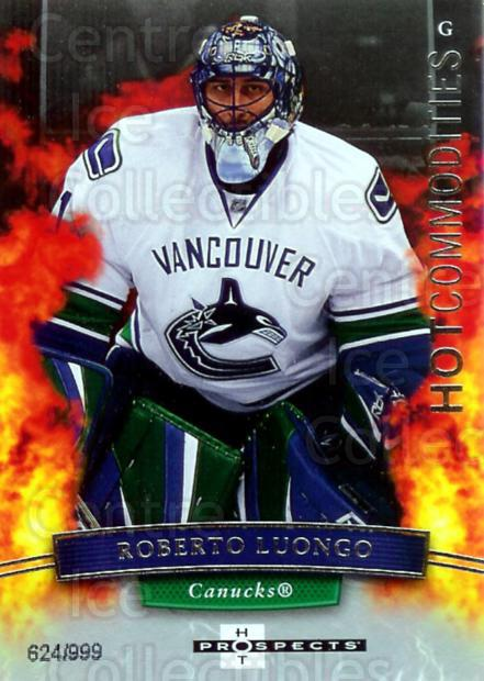 2007-08 Hot Prospects #148 Roberto Luongo<br/>1 In Stock - $3.00 each - <a href=https://centericecollectibles.foxycart.com/cart?name=2007-08%20Hot%20Prospects%20%23148%20Roberto%20Luongo...&quantity_max=1&price=$3.00&code=473027 class=foxycart> Buy it now! </a>