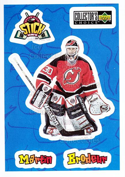 1996-97 Collectors Choice Stick Ums #24 Martin Brodeur<br/>3 In Stock - $2.00 each - <a href=https://centericecollectibles.foxycart.com/cart?name=1996-97%20Collectors%20Choice%20Stick%20Ums%20%2324%20Martin%20Brodeur...&price=$2.00&code=47303 class=foxycart> Buy it now! </a>