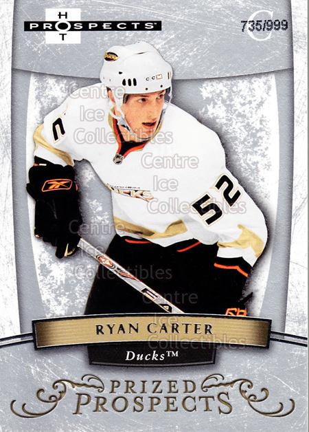 2007-08 Hot Prospects #186 Ryan Carter<br/>5 In Stock - $3.00 each - <a href=https://centericecollectibles.foxycart.com/cart?name=2007-08%20Hot%20Prospects%20%23186%20Ryan%20Carter...&quantity_max=5&price=$3.00&code=473065 class=foxycart> Buy it now! </a>