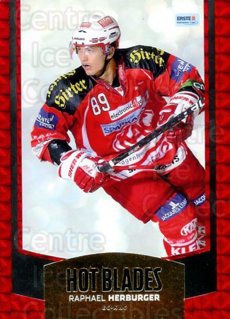 2011-12 Erste Bank Eishockey Liga EBEL Hot Blades #2 Raphael Herburger<br/>2 In Stock - $3.00 each - <a href=https://centericecollectibles.foxycart.com/cart?name=2011-12%20Erste%20Bank%20Eishockey%20Liga%20EBEL%20Hot%20Blades%20%232%20Raphael%20Herburg...&quantity_max=2&price=$3.00&code=473137 class=foxycart> Buy it now! </a>