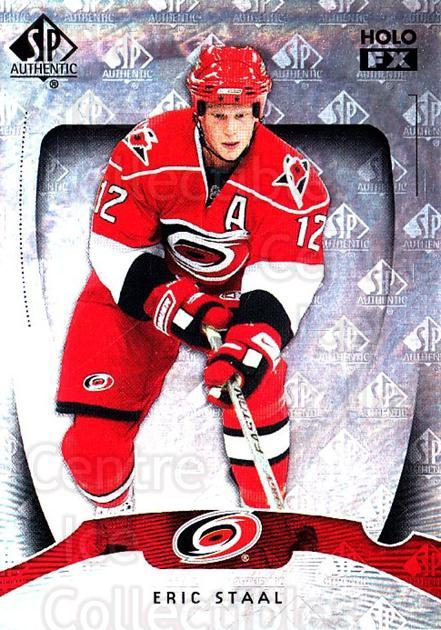 2009-10 SP Authentic Holoview FX #6 Eric Staal<br/>1 In Stock - $2.00 each - <a href=https://centericecollectibles.foxycart.com/cart?name=2009-10%20SP%20Authentic%20Holoview%20FX%20%236%20Eric%20Staal...&quantity_max=1&price=$2.00&code=473231 class=foxycart> Buy it now! </a>
