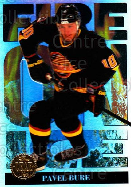 1994-95 Leaf Fire on Ice #3 Pavel Bure<br/>2 In Stock - $3.00 each - <a href=https://centericecollectibles.foxycart.com/cart?name=1994-95%20Leaf%20Fire%20on%20Ice%20%233%20Pavel%20Bure...&quantity_max=2&price=$3.00&code=473300 class=foxycart> Buy it now! </a>