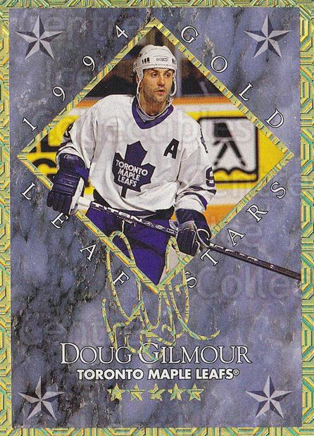 1994-95 Leaf Gold Stars #2 Doug Gilmour, Jeremy Roenick<br/>1 In Stock - $10.00 each - <a href=https://centericecollectibles.foxycart.com/cart?name=1994-95%20Leaf%20Gold%20Stars%20%232%20Doug%20Gilmour,%20J...&price=$10.00&code=473305 class=foxycart> Buy it now! </a>