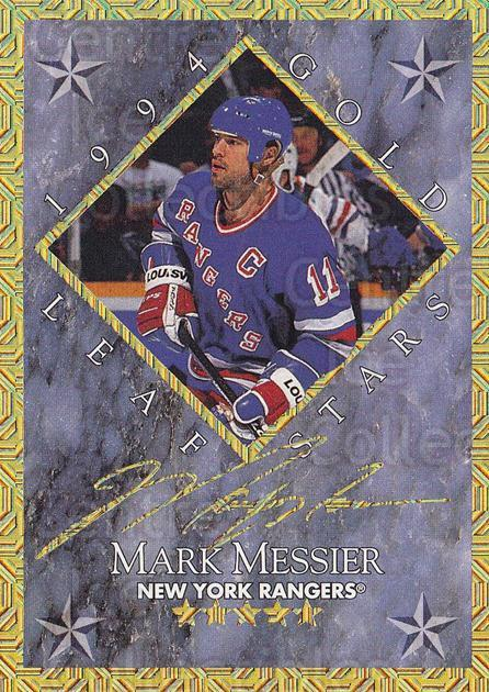 1994-95 Leaf Gold Stars #5 Mark Messier, Alexei Yashin<br/>1 In Stock - $10.00 each - <a href=https://centericecollectibles.foxycart.com/cart?name=1994-95%20Leaf%20Gold%20Stars%20%235%20Mark%20Messier,%20A...&price=$10.00&code=473308 class=foxycart> Buy it now! </a>