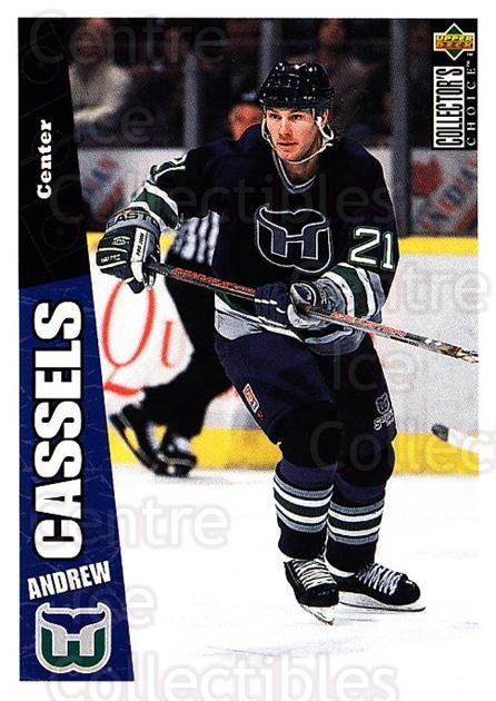 1996-97 Collectors Choice #115 Andrew Cassels<br/>2 In Stock - $1.00 each - <a href=https://centericecollectibles.foxycart.com/cart?name=1996-97%20Collectors%20Choice%20%23115%20Andrew%20Cassels...&quantity_max=2&price=$1.00&code=47335 class=foxycart> Buy it now! </a>