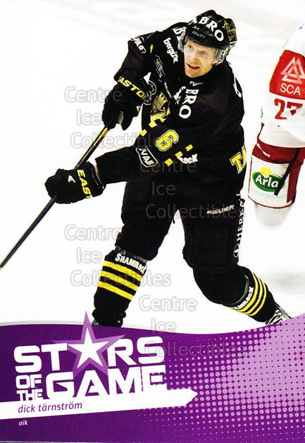 2012-13 Swedish Elitset Stars of the Game #2 Dick Tarnstrom<br/>2 In Stock - $3.00 each - <a href=https://centericecollectibles.foxycart.com/cart?name=2012-13%20Swedish%20Elitset%20Stars%20of%20the%20Game%20%232%20Dick%20Tarnstrom...&quantity_max=2&price=$3.00&code=473516 class=foxycart> Buy it now! </a>