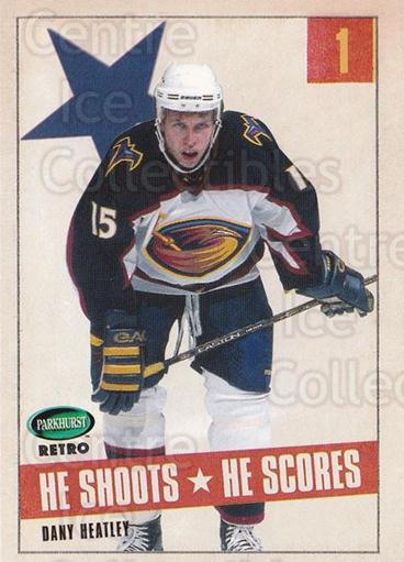 2002-03 Parkhurst Retro Points #2 Dany Heatley<br/>5 In Stock - $2.00 each - <a href=https://centericecollectibles.foxycart.com/cart?name=2002-03%20Parkhurst%20Retro%20Points%20%232%20Dany%20Heatley...&quantity_max=5&price=$2.00&code=473572 class=foxycart> Buy it now! </a>