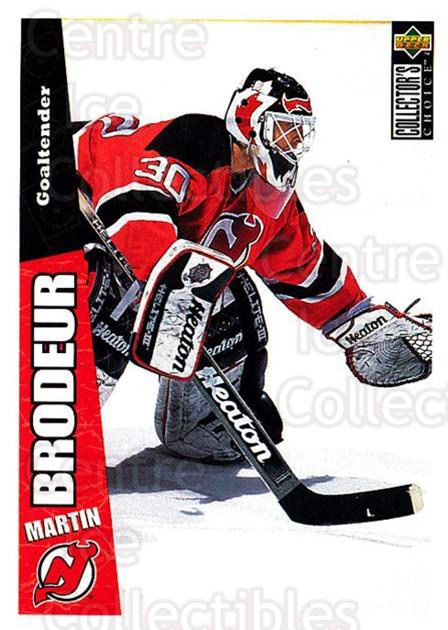 1996-97 Collectors Choice #144 Martin Brodeur<br/>2 In Stock - $2.00 each - <a href=https://centericecollectibles.foxycart.com/cart?name=1996-97%20Collectors%20Choice%20%23144%20Martin%20Brodeur...&price=$2.00&code=47367 class=foxycart> Buy it now! </a>