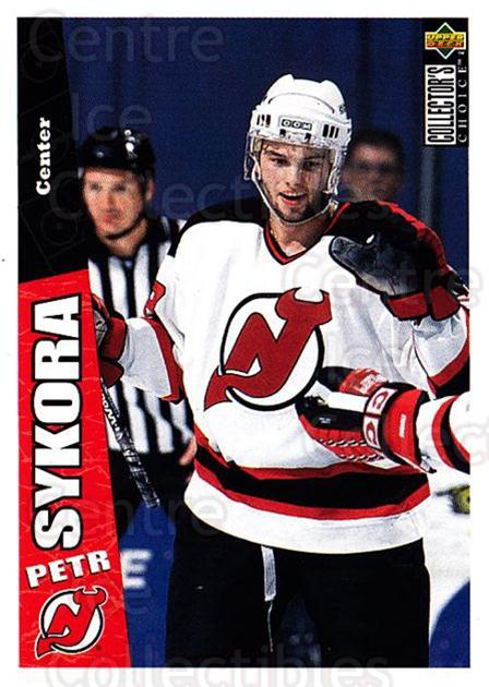 1996-97 Collectors Choice #147 Petr Sykora<br/>4 In Stock - $1.00 each - <a href=https://centericecollectibles.foxycart.com/cart?name=1996-97%20Collectors%20Choice%20%23147%20Petr%20Sykora...&quantity_max=4&price=$1.00&code=47370 class=foxycart> Buy it now! </a>