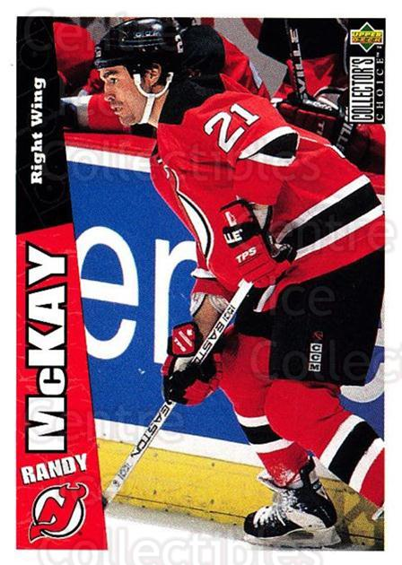 1996-97 Collectors Choice #154 Randy McKay<br/>3 In Stock - $1.00 each - <a href=https://centericecollectibles.foxycart.com/cart?name=1996-97%20Collectors%20Choice%20%23154%20Randy%20McKay...&quantity_max=3&price=$1.00&code=47378 class=foxycart> Buy it now! </a>