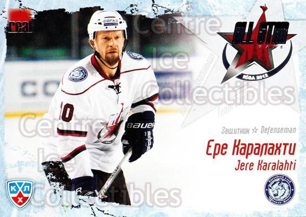 2011-12 Russian KHL AS Series #6 Jere Karalahti<br/>6 In Stock - $2.00 each - <a href=https://centericecollectibles.foxycart.com/cart?name=2011-12%20Russian%20KHL%20AS%20Series%20%236%20Jere%20Karalahti...&price=$2.00&code=474365 class=foxycart> Buy it now! </a>