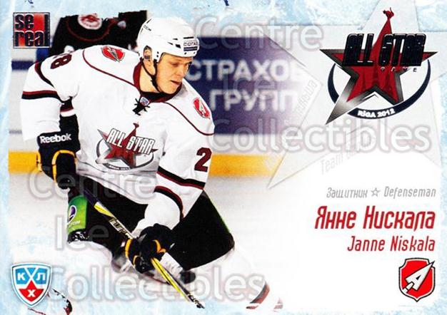 2011-12 Russian KHL AS Series #13 Janne Niskala<br/>6 In Stock - $2.00 each - <a href=https://centericecollectibles.foxycart.com/cart?name=2011-12%20Russian%20KHL%20AS%20Series%20%2313%20Janne%20Niskala...&quantity_max=6&price=$2.00&code=474372 class=foxycart> Buy it now! </a>