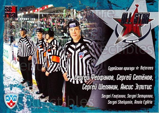 2011-12 Russian KHL AS Series #40 Referees<br/>6 In Stock - $2.00 each - <a href=https://centericecollectibles.foxycart.com/cart?name=2011-12%20Russian%20KHL%20AS%20Series%20%2340%20Referees...&price=$2.00&code=474399 class=foxycart> Buy it now! </a>