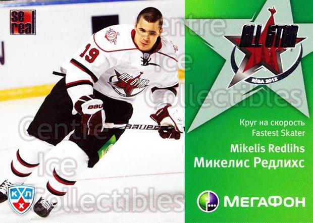 2011-12 Russian KHL AS Series #41 Mikelis Redlihs<br/>7 In Stock - $2.00 each - <a href=https://centericecollectibles.foxycart.com/cart?name=2011-12%20Russian%20KHL%20AS%20Series%20%2341%20Mikelis%20Redlihs...&price=$2.00&code=474400 class=foxycart> Buy it now! </a>