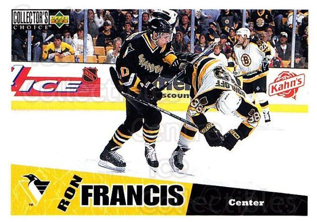 1996-97 Collectors Choice #212 Ron Francis<br/>3 In Stock - $1.00 each - <a href=https://centericecollectibles.foxycart.com/cart?name=1996-97%20Collectors%20Choice%20%23212%20Ron%20Francis...&quantity_max=3&price=$1.00&code=47440 class=foxycart> Buy it now! </a>