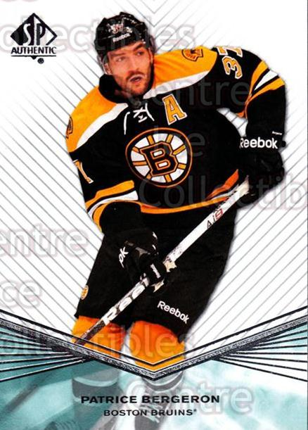 2011-12 Sp Authentic #22 Patrice Bergeron<br/>4 In Stock - $2.00 each - <a href=https://centericecollectibles.foxycart.com/cart?name=2011-12%20Sp%20Authentic%20%2322%20Patrice%20Bergero...&quantity_max=4&price=$2.00&code=474916 class=foxycart> Buy it now! </a>
