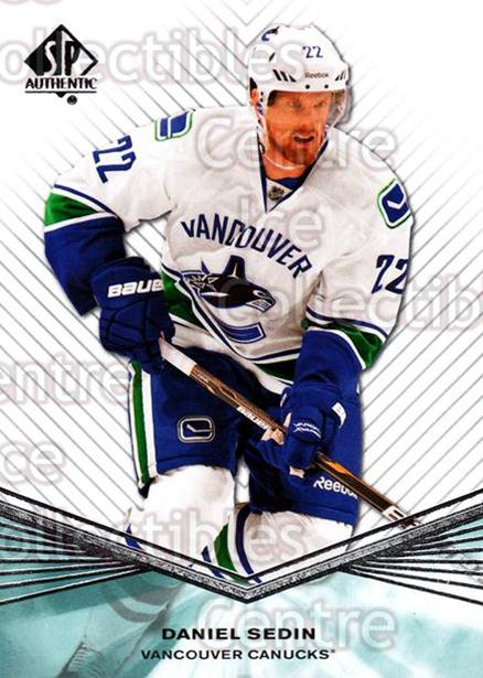 2011-12 Sp Authentic #67 Daniel Sedin<br/>7 In Stock - $1.00 each - <a href=https://centericecollectibles.foxycart.com/cart?name=2011-12%20Sp%20Authentic%20%2367%20Daniel%20Sedin...&price=$1.00&code=474961 class=foxycart> Buy it now! </a>