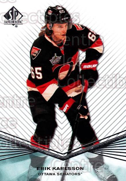 2011-12 Sp Authentic #134 Erik Karlsson<br/>7 In Stock - $1.00 each - <a href=https://centericecollectibles.foxycart.com/cart?name=2011-12%20Sp%20Authentic%20%23134%20Erik%20Karlsson...&quantity_max=7&price=$1.00&code=475028 class=foxycart> Buy it now! </a>