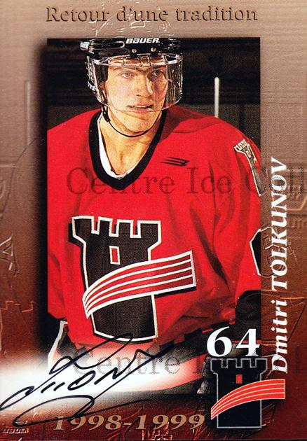 1998-99 Quebec Remparts Autographed #21 Dmitri Tolkunov<br/>1 In Stock - $5.00 each - <a href=https://centericecollectibles.foxycart.com/cart?name=1998-99%20Quebec%20Remparts%20Autographed%20%2321%20Dmitri%20Tolkunov...&price=$5.00&code=475249 class=foxycart> Buy it now! </a>
