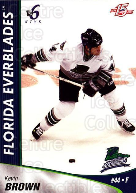 2002-03 Florida Everblades #5 Kevin Brown<br/>1 In Stock - $3.00 each - <a href=https://centericecollectibles.foxycart.com/cart?name=2002-03%20Florida%20Everblades%20%235%20Kevin%20Brown...&price=$3.00&code=475256 class=foxycart> Buy it now! </a>
