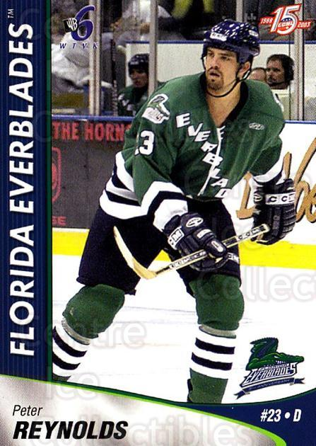 2002-03 Florida Everblades #16 Peter Reynolds<br/>2 In Stock - $3.00 each - <a href=https://centericecollectibles.foxycart.com/cart?name=2002-03%20Florida%20Everblades%20%2316%20Peter%20Reynolds...&price=$3.00&code=475267 class=foxycart> Buy it now! </a>
