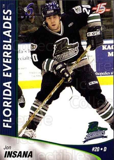 2002-03 Florida Everblades #21 Jon Insana<br/>1 In Stock - $3.00 each - <a href=https://centericecollectibles.foxycart.com/cart?name=2002-03%20Florida%20Everblades%20%2321%20Jon%20Insana...&price=$3.00&code=475272 class=foxycart> Buy it now! </a>