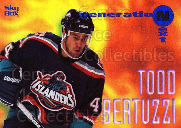 1995-96 Emotion Generation Next #8 Todd Bertuzzi<br/>1 In Stock - $3.00 each - <a href=https://centericecollectibles.foxycart.com/cart?name=1995-96%20Emotion%20Generation%20Next%20%238%20Todd%20Bertuzzi...&quantity_max=1&price=$3.00&code=475409 class=foxycart> Buy it now! </a>