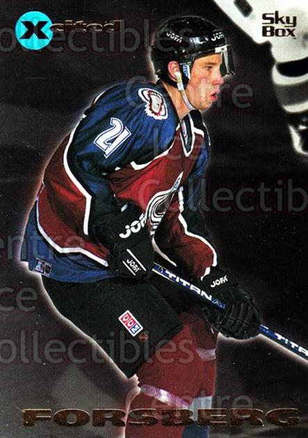 1995-96 Emotion Xcited #14 Peter Forsberg<br/>2 In Stock - $2.00 each - <a href=https://centericecollectibles.foxycart.com/cart?name=1995-96%20Emotion%20Xcited%20%2314%20Peter%20Forsberg...&quantity_max=2&price=$2.00&code=475423 class=foxycart> Buy it now! </a>