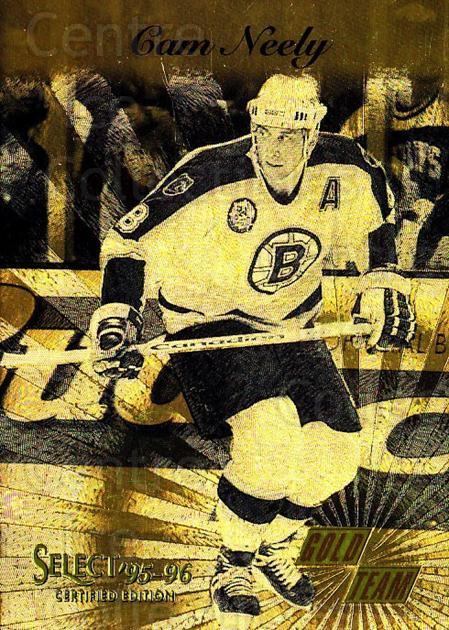 1995-96 Select Certified Gold Team #7 Cam Neely<br/>1 In Stock - $10.00 each - <a href=https://centericecollectibles.foxycart.com/cart?name=1995-96%20Select%20Certified%20Gold%20Team%20%237%20Cam%20Neely...&quantity_max=1&price=$10.00&code=475467 class=foxycart> Buy it now! </a>