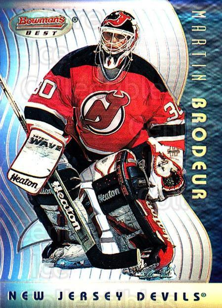 1995-96 Bowmans Best Refractors #8 Martin Brodeur<br/>1 In Stock - $20.00 each - <a href=https://centericecollectibles.foxycart.com/cart?name=1995-96%20Bowmans%20Best%20Refractors%20%238%20Martin%20Brodeur...&quantity_max=1&price=$20.00&code=475491 class=foxycart> Buy it now! </a>