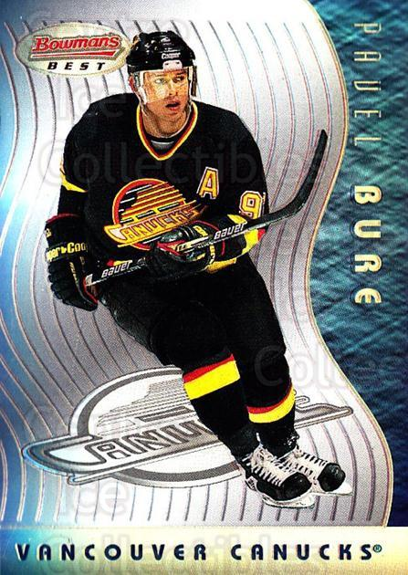 1995-96 Bowmans Best Refractors #13 Pavel Bure<br/>1 In Stock - $15.00 each - <a href=https://centericecollectibles.foxycart.com/cart?name=1995-96%20Bowmans%20Best%20Refractors%20%2313%20Pavel%20Bure...&quantity_max=1&price=$15.00&code=475496 class=foxycart> Buy it now! </a>