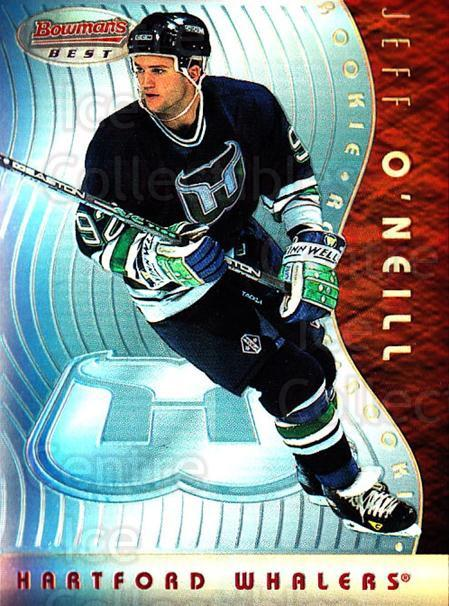 1995-96 Bowmans Best Refractors #26 Jeff O'Neill<br/>1 In Stock - $5.00 each - <a href=https://centericecollectibles.foxycart.com/cart?name=1995-96%20Bowmans%20Best%20Refractors%20%2326%20Jeff%20O'Neill...&quantity_max=1&price=$5.00&code=475502 class=foxycart> Buy it now! </a>