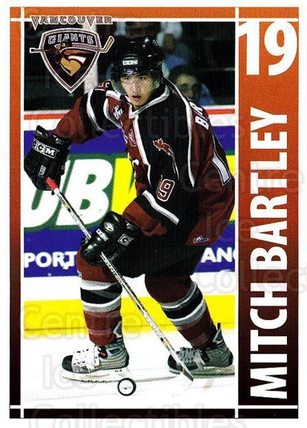 2004-05 Vancouver Giants #2 Mitch Bartley<br/>1 In Stock - $3.00 each - <a href=https://centericecollectibles.foxycart.com/cart?name=2004-05%20Vancouver%20Giants%20%232%20Mitch%20Bartley...&quantity_max=1&price=$3.00&code=475679 class=foxycart> Buy it now! </a>