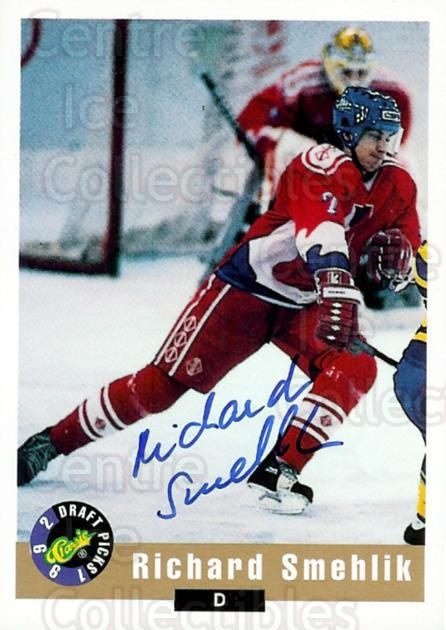 1992 Classic Hockey Draft Auto #7 Richard Smehlik<br/>2 In Stock - $5.00 each - <a href=https://centericecollectibles.foxycart.com/cart?name=1992%20Classic%20Hockey%20Draft%20Auto%20%237%20Richard%20Smehlik...&quantity_max=2&price=$5.00&code=475922 class=foxycart> Buy it now! </a>