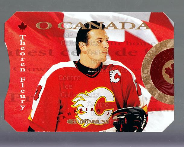 1996-97 Canadian Ice O Canada #5 Theo Fleury<br/>3 In Stock - $5.00 each - <a href=https://centericecollectibles.foxycart.com/cart?name=1996-97%20Canadian%20Ice%20O%20Canada%20%235%20Theo%20Fleury...&quantity_max=3&price=$5.00&code=47618 class=foxycart> Buy it now! </a>