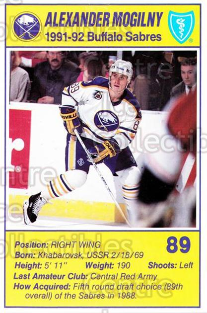 1991-92 Buffalo Sabres Blue Shield #14 Alexander Mogilny<br/>1 In Stock - $3.00 each - <a href=https://centericecollectibles.foxycart.com/cart?name=1991-92%20Buffalo%20Sabres%20Blue%20Shield%20%2314%20Alexander%20Mogil...&quantity_max=1&price=$3.00&code=476344 class=foxycart> Buy it now! </a>