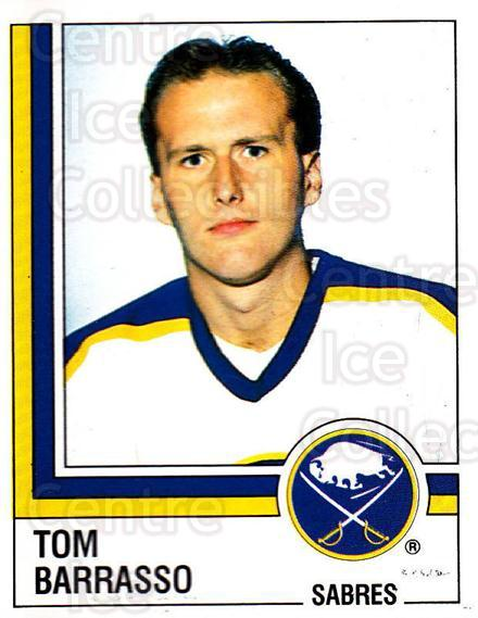 1987-88 Panini Stickers #22 Tom Barrasso<br/>29 In Stock - $3.00 each - <a href=https://centericecollectibles.foxycart.com/cart?name=1987-88%20Panini%20Stickers%20%2322%20Tom%20Barrasso...&price=$3.00&code=476402 class=foxycart> Buy it now! </a>