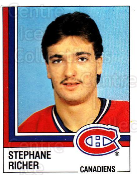 1987-88 Panini Stickers #65 Stephane Richer<br/>42 In Stock - $2.00 each - <a href=https://centericecollectibles.foxycart.com/cart?name=1987-88%20Panini%20Stickers%20%2365%20Stephane%20Richer...&quantity_max=42&price=$2.00&code=476445 class=foxycart> Buy it now! </a>