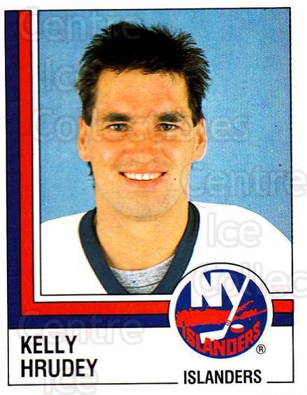 1987-88 Panini Stickers #90 Kelly Hrudey<br/>29 In Stock - $3.00 each - <a href=https://centericecollectibles.foxycart.com/cart?name=1987-88%20Panini%20Stickers%20%2390%20Kelly%20Hrudey...&quantity_max=29&price=$3.00&code=476470 class=foxycart> Buy it now! </a>