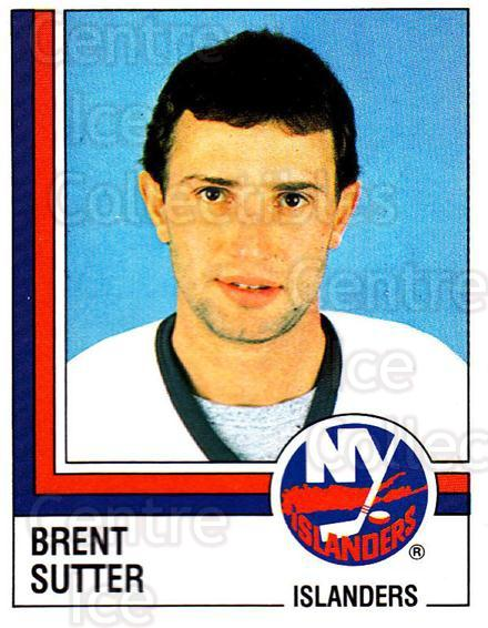 1987-88 Panini Stickers #99 Brent Sutter<br/>37 In Stock - $2.00 each - <a href=https://centericecollectibles.foxycart.com/cart?name=1987-88%20Panini%20Stickers%20%2399%20Brent%20Sutter...&quantity_max=37&price=$2.00&code=476479 class=foxycart> Buy it now! </a>