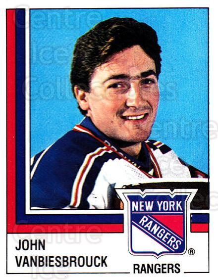 1987-88 Panini Stickers #106 John Vanbiesbrouck<br/>20 In Stock - $5.00 each - <a href=https://centericecollectibles.foxycart.com/cart?name=1987-88%20Panini%20Stickers%20%23106%20John%20Vanbiesbro...&quantity_max=20&price=$5.00&code=476486 class=foxycart> Buy it now! </a>
