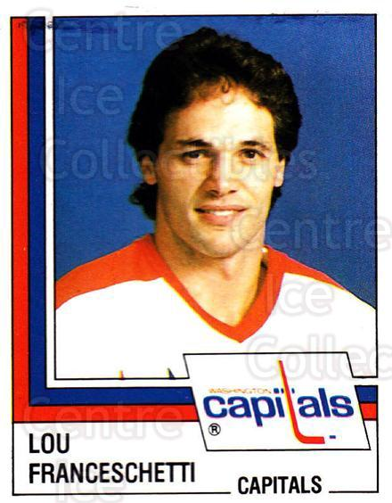 1987-88 Panini Stickers #188 Lou Franceschetti<br/>41 In Stock - $2.00 each - <a href=https://centericecollectibles.foxycart.com/cart?name=1987-88%20Panini%20Stickers%20%23188%20Lou%20Franceschet...&quantity_max=41&price=$2.00&code=476568 class=foxycart> Buy it now! </a>