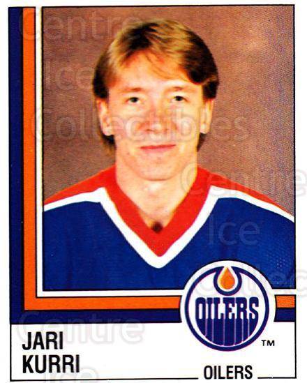 1987-88 Panini Stickers #262 Jari Kurri<br/>33 In Stock - $5.00 each - <a href=https://centericecollectibles.foxycart.com/cart?name=1987-88%20Panini%20Stickers%20%23262%20Jari%20Kurri...&quantity_max=33&price=$5.00&code=476642 class=foxycart> Buy it now! </a>