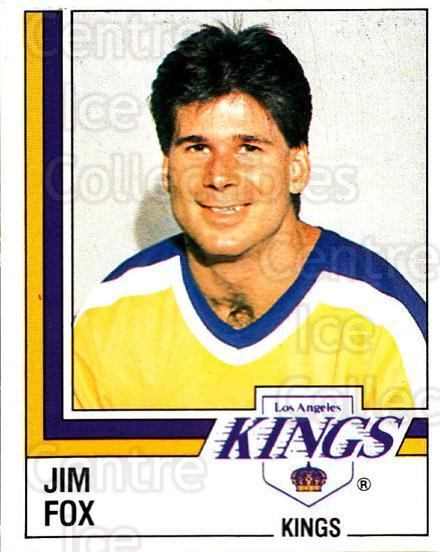 1987-88 Panini Stickers #281 Jim Fox<br/>41 In Stock - $2.00 each - <a href=https://centericecollectibles.foxycart.com/cart?name=1987-88%20Panini%20Stickers%20%23281%20Jim%20Fox...&price=$2.00&code=476661 class=foxycart> Buy it now! </a>