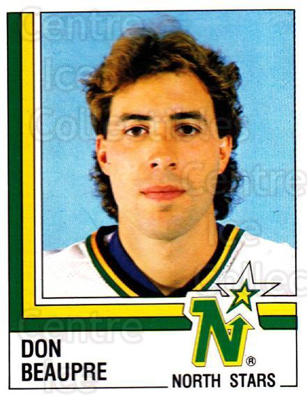 1987-88 Panini Stickers #289 Don Beaupre<br/>29 In Stock - $2.00 each - <a href=https://centericecollectibles.foxycart.com/cart?name=1987-88%20Panini%20Stickers%20%23289%20Don%20Beaupre...&quantity_max=29&price=$2.00&code=476669 class=foxycart> Buy it now! </a>